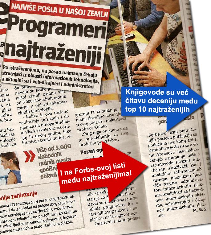 Najtraženije i najplaćenije zanimanje u Srbiji je web programer a iza njih su web dizajneri, administratori portala i računovođe…